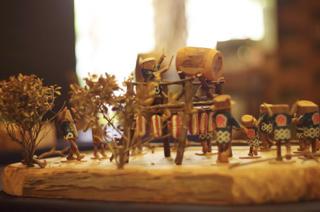 【展示】向山さんの自然の木人形展