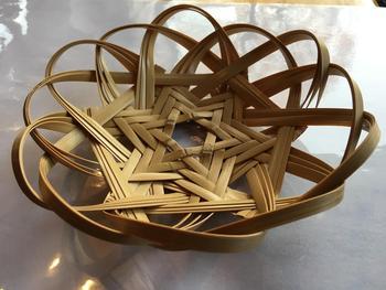 写真:竹細工講座《星あみのカゴ》を作ろう