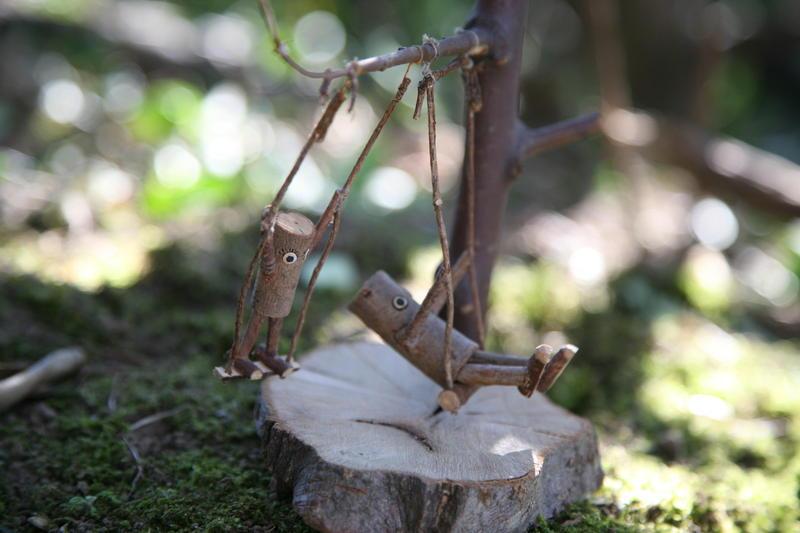 写真:自然の木人形作り*木片の天使*