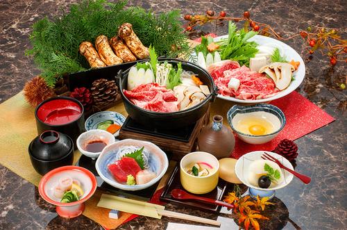 写真:【1泊2食付】松茸と三ケ日牛のすき焼き